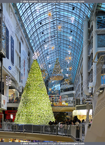 stock photo stock photo of christmas decoration in a shopping mall toronto eaton centre one of the largest shopping malls in north america toronto ontario - Mall Of America Christmas Decorations