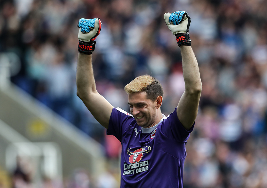 Reading's goalkeeper Emiliano Martinez celebrates his side's second goal <br /> <br /> Photographer Andrew Kearns/CameraSport<br /> <br /> The EFL Sky Bet Championship - Reading v Preston North End - Saturday 30th March 2019 - Madejski Stadium - Reading<br /> <br /> World Copyright © 2019 CameraSport. All rights reserved. 43 Linden Ave. Countesthorpe. Leicester. England. LE8 5PG - Tel: +44 (0) 116 277 4147 - admin@camerasport.com - www.camerasport.com