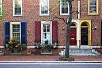 Row Homes Along Pine Street, Philadelphia, Pennsylvania