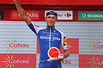 Matteo Trentin (ITA) Quick-Step Floors wins Stage 10 and the day's combativity prize of the 2017 La Vuelta, running 164.8km from Caravaca A&ntilde;o Jubilar 2017 to ElPozo Alimentaci&oacute;n, Spain. 29th August 2017.<br /> Picture: Unipublic/&copy;photogomezsport | Cyclefile<br /> <br /> <br /> All photos usage must carry mandatory copyright credit (&copy; Cyclefile | Unipublic/&copy;photogomezsport)