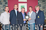 PRESIDENT'S PRIZE: William Murphy President of Kerry Vintners Golf Society presenting the President Prize to winner Mike O'Connor of O'Connor's bar, Ballyduff at O'Donnell's restaurant and bar on Thursday l-r: Jimmy Murphy (Secretary), John Galvin (sponsor), William Murphy (President), Mike O'Connor (O'Connor's bar) and Michael Leane (Captain).