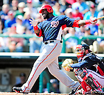 5 March 2010: Washington Nationals' outfielder Elijah Dukes in action during a Spring Training game against the Atlanta Braves at Champion Stadium in the ESPN Wide World of Sports Complex in Orlando, Florida. The Braves defeated the Nationals 11-8 in Grapefruit League action. Mandatory Credit: Ed Wolfstein Photo