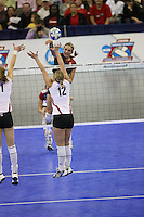 16 December 2006: Stanford Cardinal Kristin Richards during Stanford's 30-27, 26-30, 28-30, 27-30 loss against the Nebraska Huskers in the 2006 NCAA Division I Women's Volleyball Final Four Championship match at the Qwest Center in Omaha, NE.