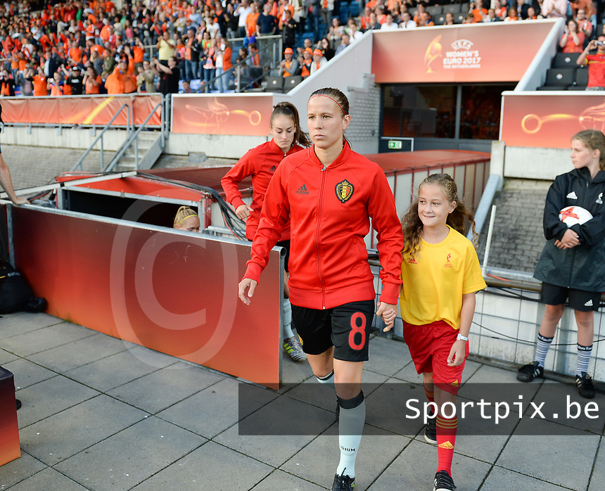 20170724 - TILBURG , NETHERLANDS : Belgian Lenie Onzia pictured during the female soccer game between the Belgian Red Flames and The Netherlands , the third and decisive game in group A at the Women's Euro 2017 , European Championship in The Netherlands 2017 , monday 24 th June 2017 at Stadion Koning Willem II in Tilburg , The Netherlands PHOTO SPORTPIX.BE | DAVID CATRY