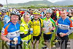 Fintan Ryan, Tralee, Mike Lane, Millton, Dan Aherne, Killorglin, John O'Sullivan, Killorglin and Aidan Healy, Tralee at the Ring of Kerry cycle on Saturday.
