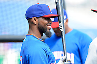 Dominican Republic shortstop Jose Reyes #7 during practice before a Spring Training game against the Philadelphia Phillies at Bright House Field on March 5, 2013 in Clearwater, Florida.  The Dominican defeated Philadelphia 15-2.  (Mike Janes/Four Seam Images)