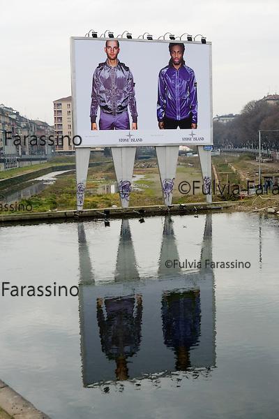 Milano, gennaio 2008. La Darsena, lavori in corso. <br /> Work uin progress