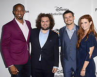 LOS ANGELES - MAY 21:  J. August Richards, Dustin Ybarra, Jason Ritter, JoAnna Garcia Swisher at the 2017 ABC/Disney Media Distribution International Upfront at the Walt Disney Studios on May 21, 2017 in Burbank, CA