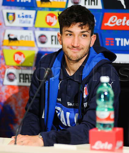 20.05.2016. Florence, Italy. The mens Italian Football team press conference.   Danilo Cataldi (Lazio)