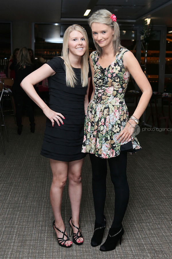 NO FEE 14/10/2010.  Bóthar's Rugby Rocks Fashion.  Rebecca Vaughan and Isobel Mc Cann are pictured at Bóthar's Rugby Rocks Fashion fundraising event at the Aviva Stadium in Dublin on Thursday night were {insert names here}. All proceeds from the event go towards Bóthar's projects in Pakistan. To find out more about Bóthar's work in Pakistan or in any of the 35 project countries Bóthar works in, lo-call 1850 82 99 99 or visit www.bothar.org. Picture James Horan/Colllins Photos