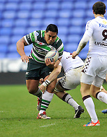 READING, ENGLAND : Leo Halavatau of London Irishin action during the Amlin Challenge Cup match between London Irish and Bordeaux-Begles at Madejski Stadium on January 18, 2013 in Reading, England.