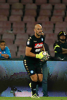 Pepe Reina<br />  during the  italian serie a soccer match,between SSC Napoli and AC Chievo       at  the San  Paolo   stadium in Naples  Italy , September 25, 2016