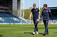 Bolton Wanderers' Harry Brockbank and Joe Muscatt pictured before the match <br /> <br /> Photographer Andrew Kearns/CameraSport<br /> <br /> The EFL Sky Bet Championship - Blackburn Rovers v Bolton Wanderers - Monday 22nd April 2019 - Ewood Park - Blackburn<br /> <br /> World Copyright © 2019 CameraSport. All rights reserved. 43 Linden Ave. Countesthorpe. Leicester. England. LE8 5PG - Tel: +44 (0) 116 277 4147 - admin@camerasport.com - www.camerasport.com