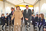GUARD OF HONOUR: President Mary McAleese shares a joke with the guard of honour, as school Principal Rory Darcy escorts her into St Oliver's National School, Killarney on Thursday.   Copyright Kerry's Eye 2008