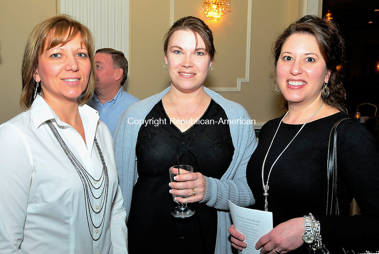 WATERBURY, CT-12 MARCH 2010-031210JS13-Barb  Jackson of Wolcott, Kari Prescott of Wolcott and Lori Polletta of Wolcott at the wine tasting to benefit the Make a Wish Foundation of Connecticut Friday March, 11 at the Ponte Club in Waterbury. <br /> Jim Shannon Republican-American