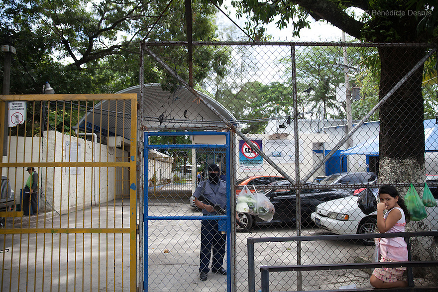 Ilopango women's prison where women have been held on abortion-related charges in San Salvador, El Salvador on June 10, 2015. Abortion in El Salvador is illegal. The law formerly permitted an abortion to be performed under some limited circumstances, but, in 1998, all exceptions were removed when a new abortion law went into effect. Photo by Bénédicte Desrus