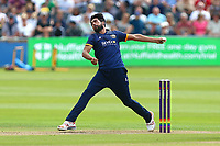 Mohammad Amir in bowling action for Essex during Gloucestershire vs Essex Eagles, NatWest T20 Blast Cricket at The Brightside Ground on 13th August 2017