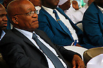 DURBAN - 4 December 2016 - South Africa's President Jacob Zuma attends a thanksgiving service of the 4.5 million strong Twelve Apostles Church in Christ in Durban's Moses Mabhida Stadium. He is listening to church leader Professor Caesar Nongqunga who urged church members to deposit their savings into the same bank that had earlier in the year given Zuma a loan to repay the the government for controversial non-security upgrades to his personal residence in Nkandla. Picture: Allied Picture Press/APP