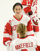 Cristina Wiley (BU - 12) - The Boston University Terriers defeated the visiting Northeastern University Huskies 3-0 on Tuesday, December 7, 2010, at Walter Brown Arena in Boston, Massachusetts.