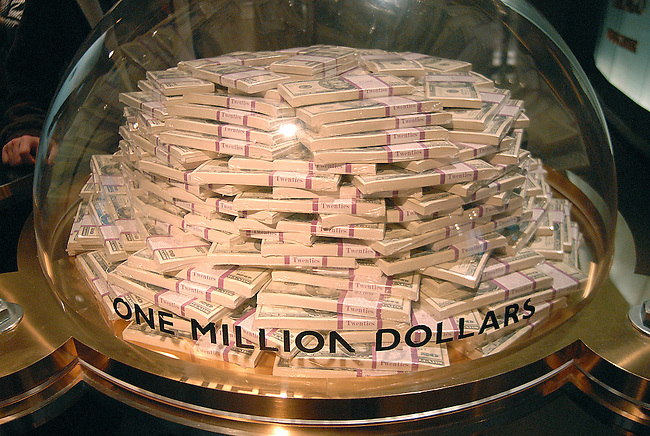 One million dollars sits under glass, Federal Reserve Bank Visitor Center, Chicago, Illinois