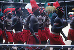 AFRICAN DANCERS PERFORM FOR THE CROWD