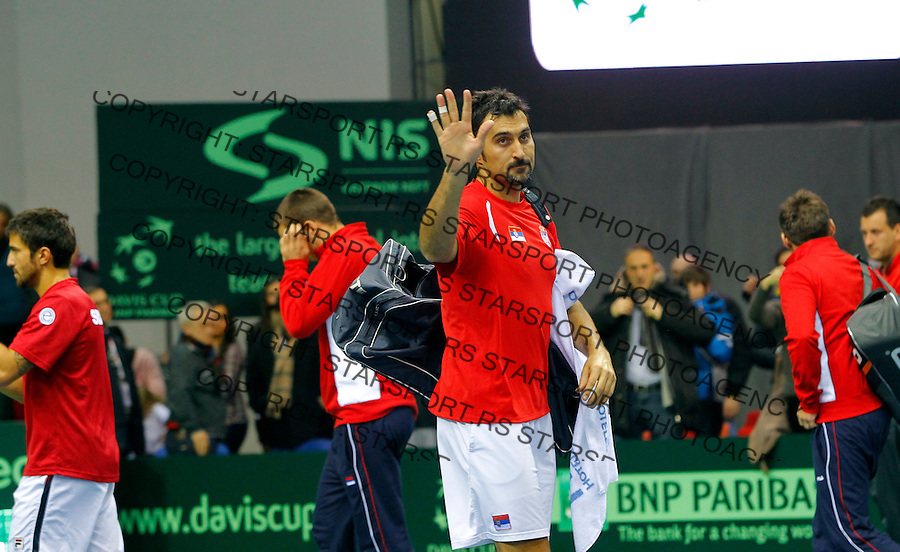 Doubles, Davis Cup, World Group, 1st Round, Serbia - Sweden, Nis, Serbia, Saturday, February 11, 2011. Janko Tipsarevic and Nenad Zimonjic (SRB) - Johan Brunstrom and Robert Lindstedt (SWE) (photo: Pedja Milosavljevic / thepedja@gmail.com / +381641260959)
