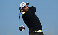 S.S.P Chawrasia of India tees off during Round 2 of the 2015 Alfred Dunhill Links Championship at the Old Course, St Andrews, in Fife, Scotland on 2/10/15.<br /> Picture: Richard Martin-Roberts | Golffile