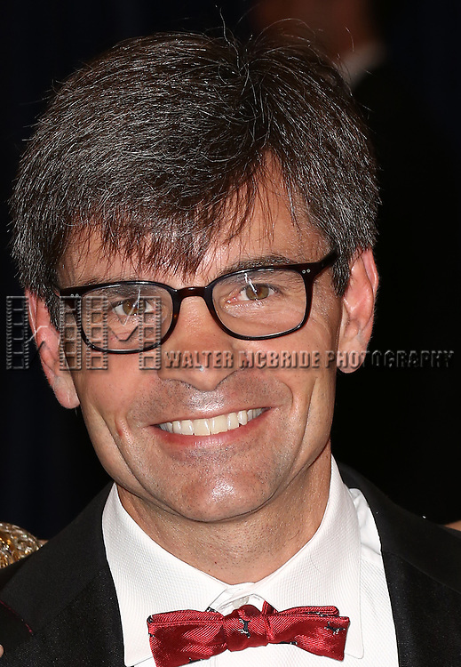George Stephanopoulos attending the  2013 White House Correspondents' Association Dinner at the Washington Hilton Hotel in Washington, DC on 4/27/2013