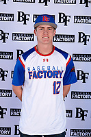 Shawn Triplett (12) of Ridgeline High School in Providence, Utah during the Baseball Factory All-America Pre-Season Tournament, powered by Under Armour, on January 12, 2018 at Sloan Park Complex in Mesa, Arizona.  (Mike Janes/Four Seam Images)