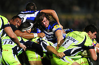 Nick Auterac of Bath Rugby in action at a maul. Aviva Premiership match, between Bath Rugby and Sale Sharks on October 7, 2016 at the Recreation Ground in Bath, England. Photo by: Patrick Khachfe / Onside Images