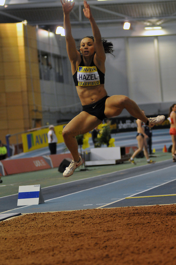 Photo: Tony Oudot/Richard Lane Photography. Aviva World Trials & UK Championships. 14/02/2010. .Womens Long Jump,.Louise Hazel.