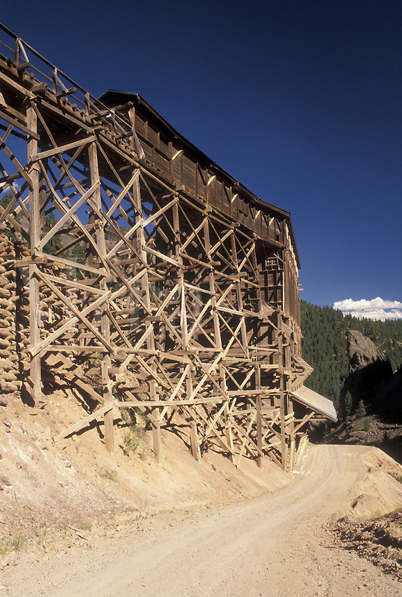 mining, Creede, CO, Colorado, Remains of Bachelor Silver Mine near the town of Creede.