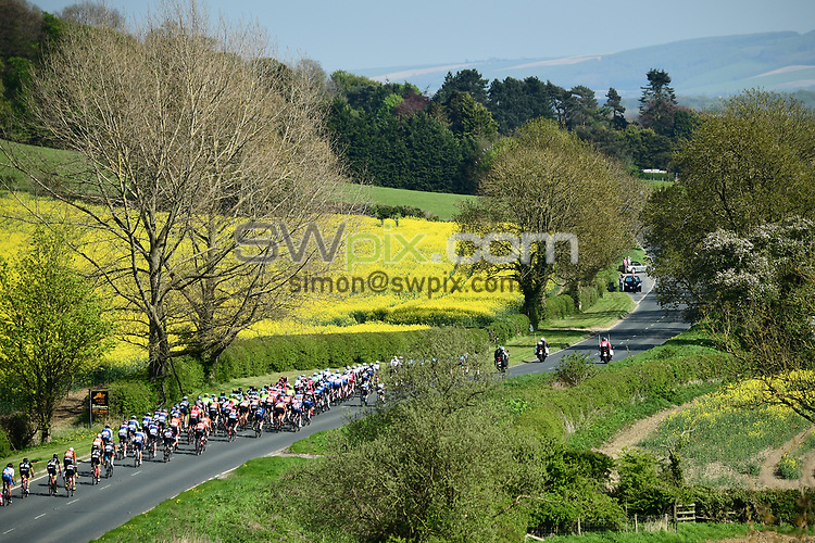 Picture by SWpix.com - 05/05/2018 - Cycling - 2018 Tour de Yorkshire - Stage 3: Richmond to Scarborough - The peloton passes