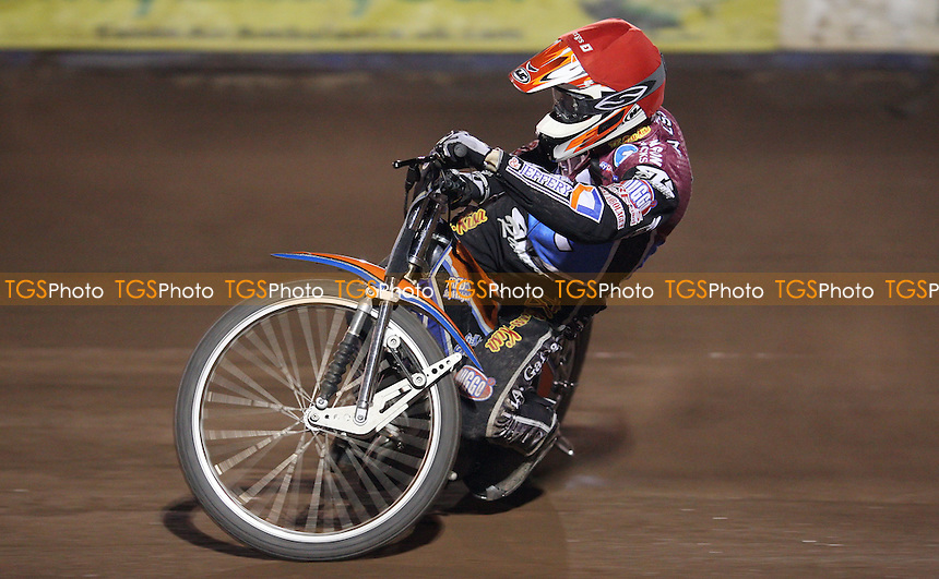 Peter Karlsson of Lakeside Hammers - Lakeside Hammers vs Belle Vue Aces, Elite League at the Arena Essex Raceway, Pufleet - 30/03/12 - MANDATORY CREDIT: Rob Newell/TGSPHOTO - Self billing applies where appropriate - 0845 094 6026 - contact@tgsphoto.co.uk - NO UNPAID USE..