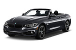 2019 BMW 4 Series 430i 2 Door Convertible angular front stock photos of front three quarter view