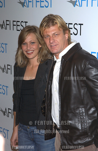 Actor SEAN BEAN & actress JOEY LAUREN ADAMS at the world premiere of their new movie The Big Empty, as part of the AFI Film Festival in Los Angeles..November 9, 2003