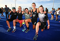 Brooke Neal and fans. Pro League Hockey, Vantage Blacksticks Women v China. Nga Puna Wai Hockey Stadium, Christchurch, New Zealand. Sunday 17th February 2019. Photo: Simon Watts/Hockey NZ