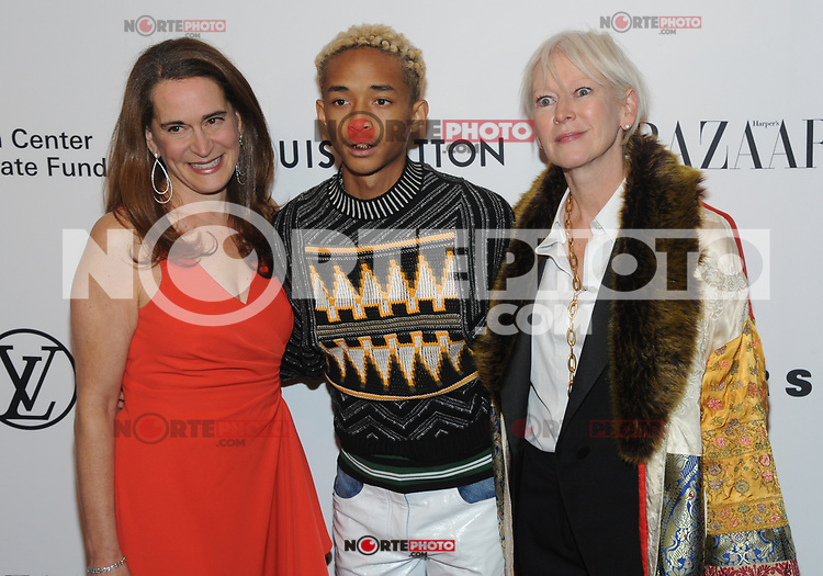 NEW YORK, NY - NOVEMBER 30: Debora L. Spar, Jaden Smith and Joanna Coles at the Lincoln Center Corporate Fund Gala at Alice Tully Hall in New York City on November 30, 2017. Credit: John Palmer/MediaPunch NortePhoto.com. NORTEPHOTOMEXICO