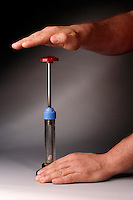 ADIABATIC COMPRESSION IGNITES PAPER<br /> Fire Piston- Diesel Engine Principle & Gas Law<br /> (1 of 2 - Variations Available)<br /> Or fire syringe- an airtight piston and cylinder device uses the principle of heating a gas (air) by rapid adiabatic compression, increasing its pressure & raising temperature high enough to ignite  tinder beneath the piston.