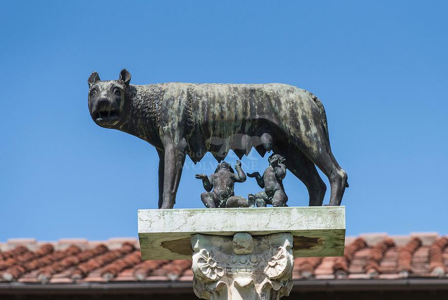 Standbeeld van Romulus en Remus, de wolfskinderen