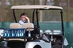 10.04.2018, Trainingsgelaende, Bremen, GER, 1.FBL, Training SV Werder Bremen<br /> <br /> im Bild<br /> Frank Baumann (Gesch&auml;ftsf&uuml;hrer Fu&szlig;ball Werder Bremen) beobachtet das Training aus dem Golfcart, <br /> <br /> Foto &copy; nordphoto / Ewert