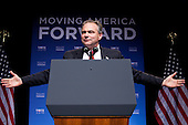 Tim Kaine, chairman of the Democratic National Committee, makes introductory remarks at a Gen44 fundraising event at DAR Constitution Hall in Washington, D.C., U.S., on Thursday, September 30, 2010. .Credit: Brendan Hoffman - Pool via CNP