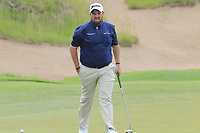 Shane Lowry (IRL) on the 5th green during Saturday's Round 3 of the 117th U.S. Open Championship 2017 held at Erin Hills, Erin, Wisconsin, USA. 17th June 2017.<br /> Picture: Eoin Clarke | Golffile<br /> <br /> <br /> All photos usage must carry mandatory copyright credit (&copy; Golffile | Eoin Clarke)