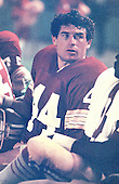 Washington Redskins running back John Riggins (44) rests on the bench during a pre-season game against the Atlanta Falcons at RFK Stadium in Washington, D.C. on August 25, 1978.  The Falcons won the game 10 - 7..Credit: Arnie Sachs / CNP