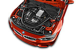 Car Stock 2015 BMW M3 4 Door Sedan Engine high angle detail view