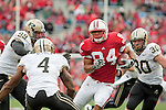 October 31, 2009: Wisconsin Badgers tight end Lance Kendricks (84) carries the ball during an NCAA football game against the Purdue Boilermakers at Camp Randall Stadium on October 31, 2009 in Madison, Wisconsin. The Badgers won 37-0. (Photo by David Stluka)