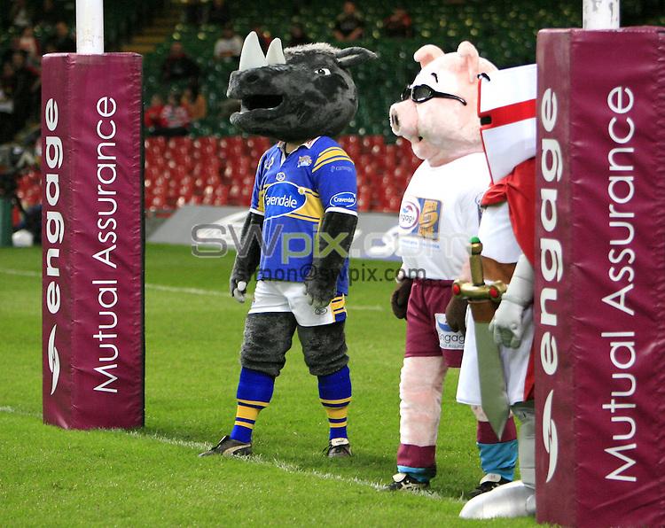 Pix: Chris Mangnall /SWpix.com, Rugby League Super League. Millennium Magic Cardiff. 03/05/08....picture copyright>>simon wilkinson>>07811267 706>>.... Mascot Games ..engage