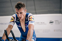 Philippe Gilbert (BEL/Quick Step floors) warming up to jumpstart his 8th Tour de France<br /> <br /> 104th Tour de France 2017<br /> Stage 1 (ITT) - D&uuml;sseldorf &rsaquo; D&uuml;sseldorf (14km)