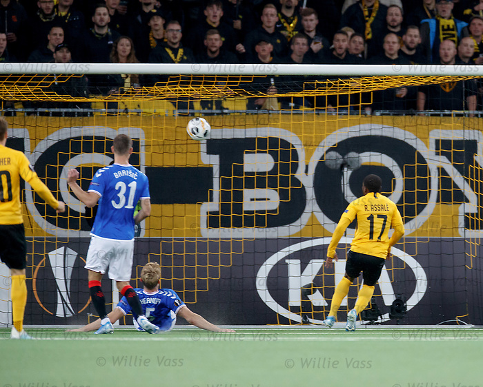 03.10.2019 Young Boys of Bern v Rangers: Roger Assale equalises