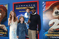 """LOS ANGELES - JAN 6:  Allison Holker, Stephen Boss, Family at the """"Paddington 2"""" US Premiere at Village Theater on January 6, 2018 in Westwood, CA"""